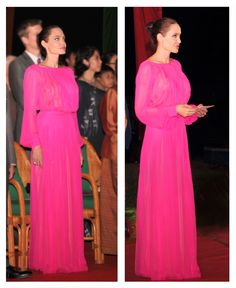 """Angelina Jolie in Schiaparelli at the """"First the killed my father"""" premiere #AngelinaJolie"""