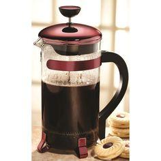 8-Cup Classic Coffee Press Tea Kettle in Metallic Red