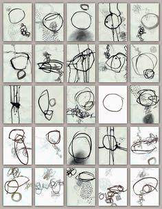 Black and White Studies, mark making, Jane Davies
