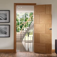 Ravenna Oak Flush Panel Door