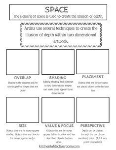 Elements Of Art D Cube Project  TeacherspayteachersCom