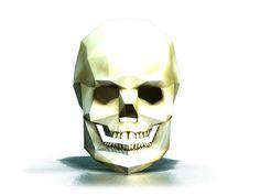 DIY 3D Skull paper mask