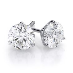 Diamond Martini Earrings in 14k White Gold. Starting at #369.99 #diamondwave #martiniearrings #diamondstuds