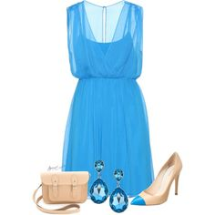 Blue and Nude, created by tayswift-1d on Polyvore