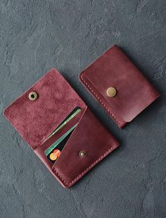 Leather wallet / compact purse / Leather wallet / Leather wallet handmade / Red brown / Mens bifold wallet / Billfold wallet - Leather wallet / compact purse / Leather wallet / Leather image 3 Source by Leather Wallet Pattern, Handmade Leather Wallet, Leather Card Wallet, Leather Gifts, Leather Craft, Small Leather Wallet, Leather Diy Crafts, Small Wallet, Cheap Purses