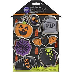 This 7 piece Halloween cookie cutter set from Wilton makes the cutest cookies. These would be a fun project to do with kids as they help frost and decorate their on Halloween cookies.