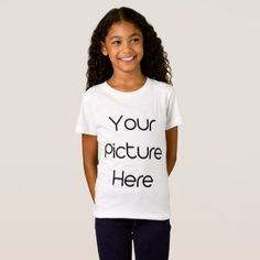 Customized Girl Fine Jersey T-Shirt - create your own gifts personalize cyo custom
