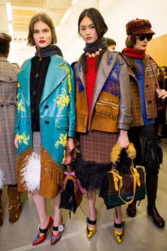 Prada Fall 2017 Fashion Show Backstage, Milan Fashion Week, MFW, Runway, TheImpression.com - Fashion news, runway, street style, models,