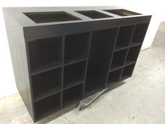 Dj desk made from black lacquered oak veneered mdf Dj Equipment For Sale, Dj Kit, Turntable Setup, Dj Dj Dj, Dj Stand, Dj Table, Dj Decks, Vinyl Board, Dj Setup