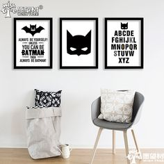 Nordic Decoration Batman Posters And Prints Wall Art Canvas Art Print Wall Pictures Painting Cuadros Poster Frame not include