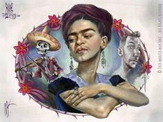 Frida Khalo caricature by Marzio Mariani (All Rights Reserved)