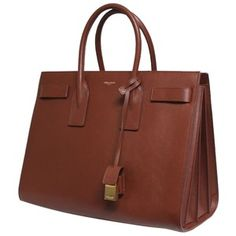 Pre-owned Saint Laurent New Ysl Sac De Jour Medium Box Carryall Leather Brown To