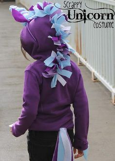 DIY Tutorial: DIY Girls Halloween Costumes / DIY Dragonfly Designs: Scrappy Unicorn Costume - Bead&Cord