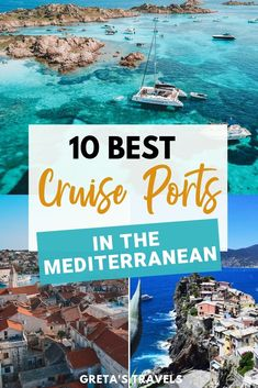 Planning a cruise in the Mediterranean but not sure what destinations to visit? Discover the 10 best cruise ports in the Mediterranean ranked by someone who has been on 10 Mediterranean cruises! Packing For A Cruise, Cruise Travel, Cruise Vacation, Vacation Trips, Cruise Europe, Vacation Ideas, Vacations, Best Cruise, Cruise Port