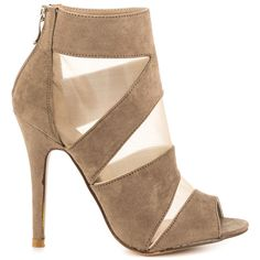 Chinese Laundry Women's Jasper - Toffee Micro Suede ($66) ❤ liked on Polyvore featuring shoes, pumps, beige, high heel shoes, beige pumps, peep toe shoes, stilettos shoes and beige shoes