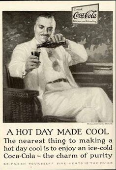 A Hot Day Made Cool By Coca-Cola And Its Charm Of Purity.