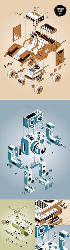 Work 2014 by blindSALIDA, via Behance