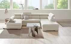 Komfortmöbel in Weiß: Wohnlandschaft mit umfangreichen Entspannungsoptionen