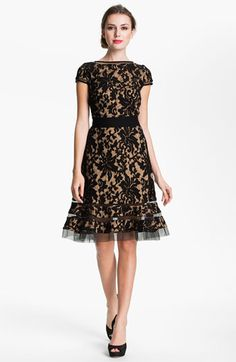 Tadashi Shoji Textured Lace Dress available at don't think it would look great on me, but damn I like it! Pretty Outfits, Pretty Dresses, Beautiful Outfits, Gorgeous Dress, Mein Style, Looks Style, Mode Inspiration, Nordstrom Dresses, Dress To Impress