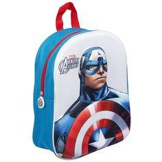 Avengers Assemble 3D Rugzak - Captain America #avengers #captainamerica #kinderrugzak #kinderrugtas #3Drugzak Spiderman, Batman, The Avengers, Captain America, Minions, 3 D, Gym Bag, Mickey Mouse, Backpacks