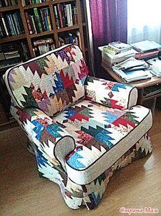 Patchwork taske på en stol - patchwork - hjemme Moms