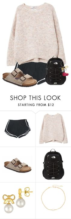 """""""Untitled #5"""" by preppypuffpuff on Polyvore featuring NIKE, MANGO, Birkenstock, The North Face, Majorica, Jules Smith and Eos"""