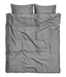 Washed Linen Duvet Cover Set | Gray | H&M HOME | H&M US