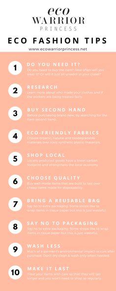 7d2a46f189 Eco Fashion Shopping Tips - Eco Warrior Princess infographic Slow Fashion