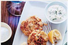 Salmon and Whitefish Cakes with Horseradish Cucumber Sauce / Marcus Nilsson