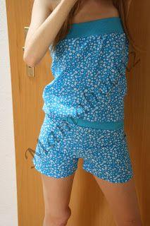 Mamahoch2: luftiger Sommerjumpsuit - Nähanleitung Schnittabnahme von passendem Shirt und Hose
