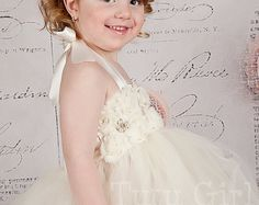 Items similar to Ivory Champagne Flower Girl Tutu Dress with Flower Sash and Lace Cap Sleeves on Etsy Gold Flower Girl Dresses, Vintage Flower Girls, Toddler Flower Girl Dresses, Tulle Flower Girl, Girls Lace Dress, Girls Tutu Dresses, Tulle Dress, Elsa, Hot
