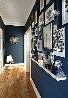 Eingang blau