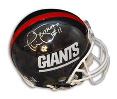 2ca363639286d Autographed Phil Simms New York Giants Throwback Proline Helmet with COA
