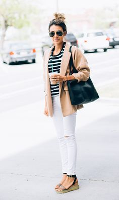 Stripes + White Denim
