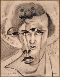 Francis Picabia, Olga, 1930, graphite pencil and crayon on paper, Bequest of Mme Lucienne Rosenberg 1995  CNAC/MNAM/Dist.RMN-Grand Palais/Art Resource  © 2012 Artists Rights Society (ARS), New York / ADAGP, Paris