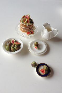 Handmade miniature fig cake by 2smartminiatures
