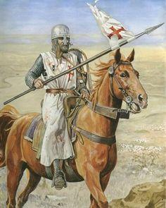 Hattin 1187 Crusader Knight, Knight Armor, Medieval Knight, Medieval Armor, Military Art, Military History, Military Uniforms, Knights Templar Symbols, Masonic Art