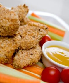 Better for you appetizers: Chicken Nuggets and Mozzarella Bites