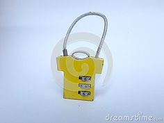Yellow padlock of cloth. You can use it for your website or more