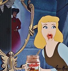 Caught in the act. 17 Disney Nutella Memes Guaranteed To Make You Laugh Out Loud Humour Disney, Funny Disney Memes, Cartoon Memes, Funny Memes, Hilarious, Funny Quotes, Dark Disney, Disney Love, Disney Art