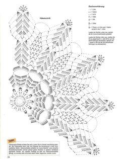 Photo from album FiletHakeln Sonderheft - FI 263 Dekchen on Yandex. Crochet Doily Diagram, Crochet Mandala Pattern, Crochet Circles, Crochet Chart, Thread Crochet, Filet Crochet, Crochet Stitches, Crochet Patterns, Crochet Dollies