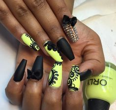 Lime green and black matte