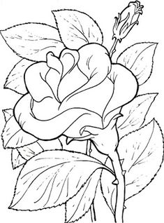 coloring page - Free Printable Coloring Pages Flower Coloring Pages, Coloring Book Pages, Mandala Coloring, Flower Pictures, Colorful Pictures, Flower Images, Printable Coloring Sheets, Fabric Painting, Colorful Flowers