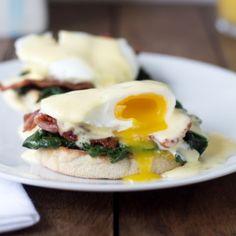 Eggs Florentine - with an easy way to make Hollandaise sauce. Egg Recipes, Brunch Recipes, Breakfast Recipes, Brunch Ideas, Eggs Florentine, Hot Butter, Lemon Muffins, Hollandaise Sauce, Homemade Breakfast