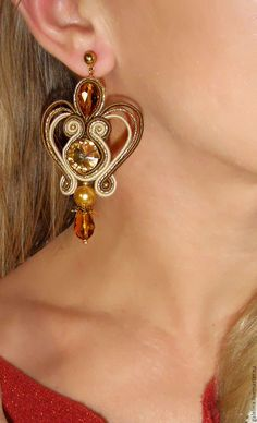 Macrame Earrings, Soutache Earrings, Macrame Jewelry, Ring Earrings, Shibori, Soutache Tutorial, Embroidery Jewelry, Jewelery, Jewelry Making