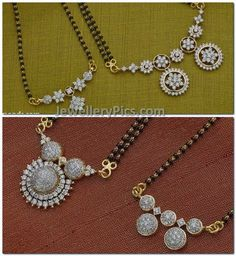 mangalsutra studded with diamonds