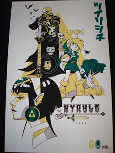 Zelda 13 x 20 screen printed poster print by EscapeCapsule on Etsy, $14.99