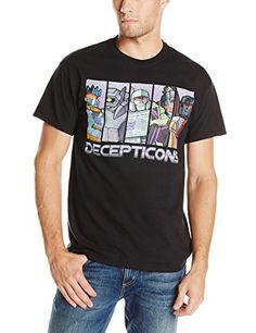 Transformers Mens Decepticons Panels Tee, Black, X-Large