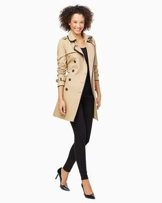 charming charlie   Double Breasted Trench Coat   UPC: 400000098449 #charmingcharlie