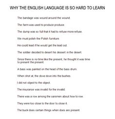 Why English is hard to learn - if you were trying to improve your IPA skills, these would be great sentences to transcribe